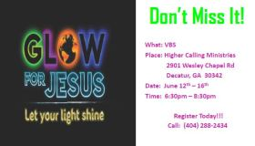 Higher Calling Ministries VBS