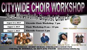 Citywide Choir Workshop New Macedonia Baptist Church