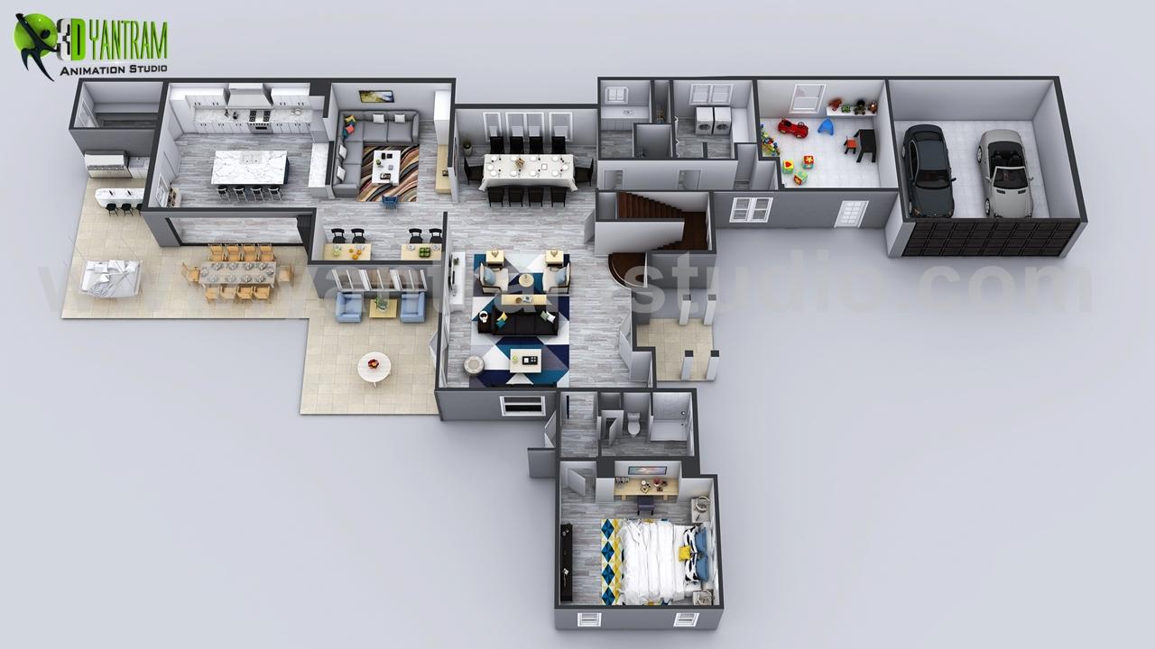 3D House Floor Plan Designs, Ideas By Yantram 3d Virtual
