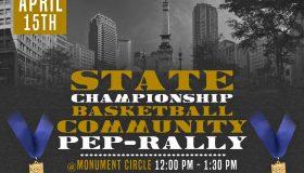 State Championship Community Pep-Rally Flyer