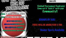 Stop The Violence Kick Off Tournament Flyer