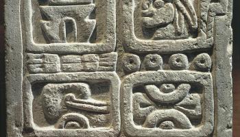 Mexico, Maya Civilization, Xochicalco, Stone of the four glyphs (calendar system)