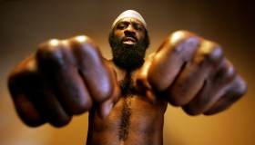 Kimbo Slice (Kevin Ferguson), who will fight in the main event of the first mixed martial arts card