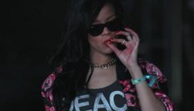 Rihanna Smoking