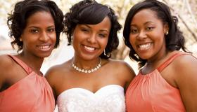 Bride and her brides maids