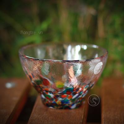 Chén uống trà thủy tinh thủ công bốn mùa Nhật Bản