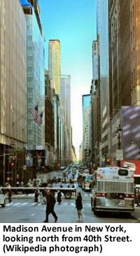 Madison Avenue (Wikipedia photograph)