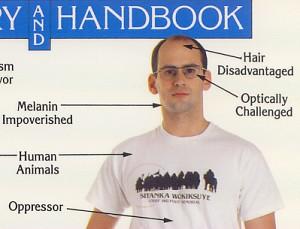 Melanin-Impoverished, Hair-Disadvantaged, Optically-Challenged Oppressor