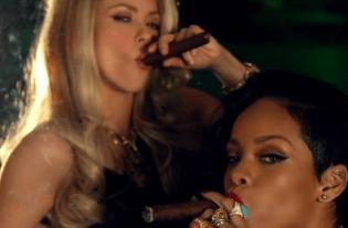 Both Shakira & Rihanna - 'Smokes Cigars!'