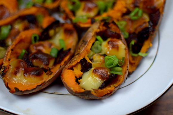 November Dinner Party = Appetizer - Loaded Sweet Potato Skins