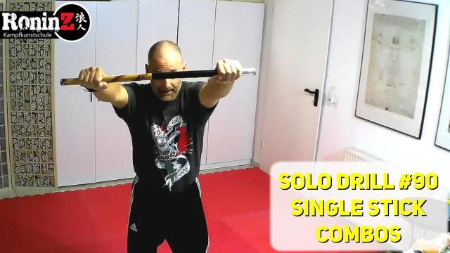 Solo Drill 90 Single Stick Combos