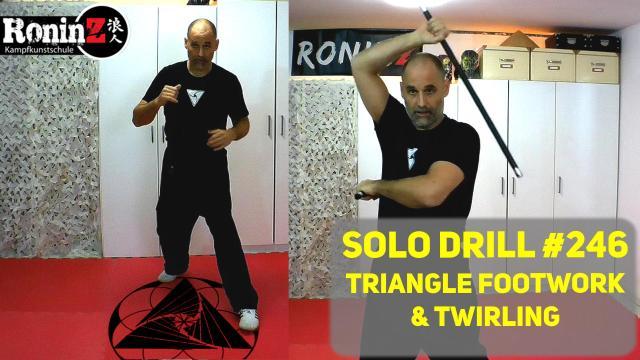 Solo Drill 246 Triangle Footwork & Twirling