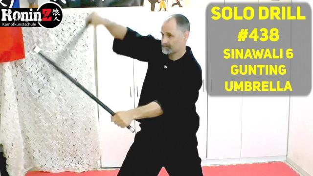Solo Drill #438 Sinawali 6 - Gunting - Umbrella