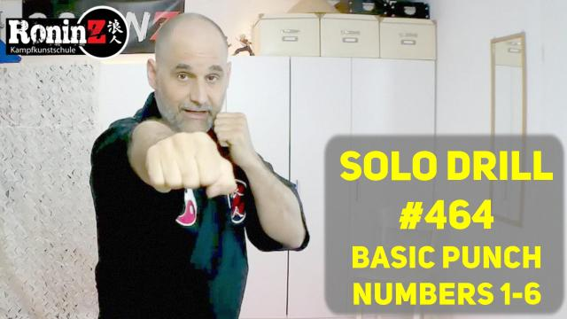 Solo Drill #464 BASIC PUNCH NUMBERS 1-6