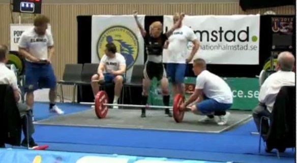 Anna segergest 125 kg Marklyft