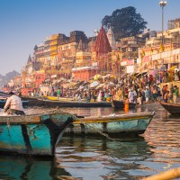 Golden Hour - Morning on the Ghats of Varanasi
