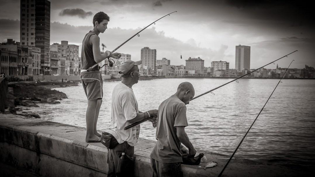 Fishing on the Malecon, Havana-