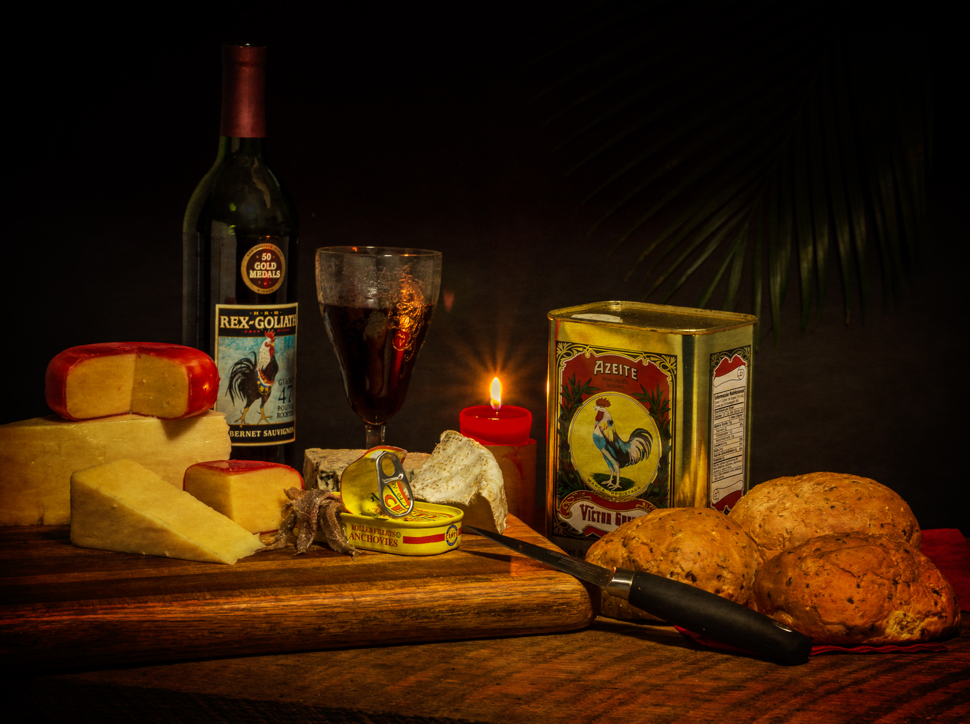 Still Life with Cheese and Anchovies - Still Life Photography