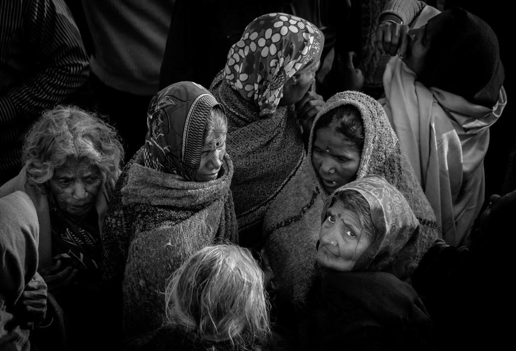 an image of the faithful attending Kumbh Mela, Allahabad, India