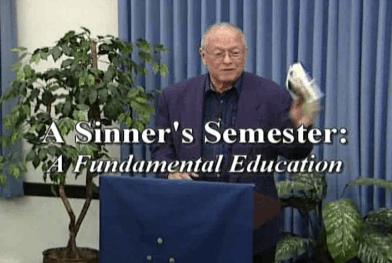 Ron Miller Sinner's Semester Talk