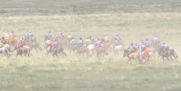 Horse races at local Naadam festival