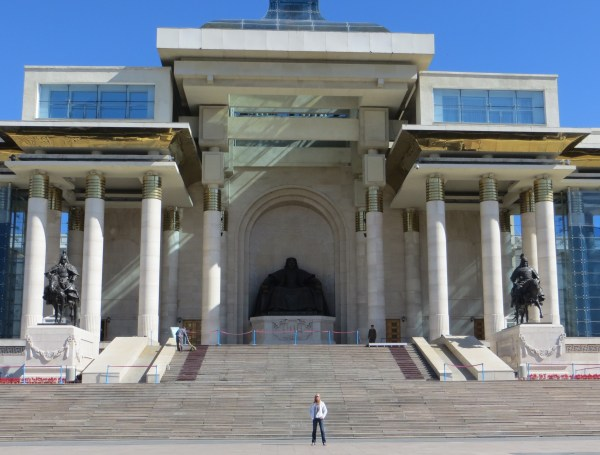 Parliament House in Sukhbaatar Square