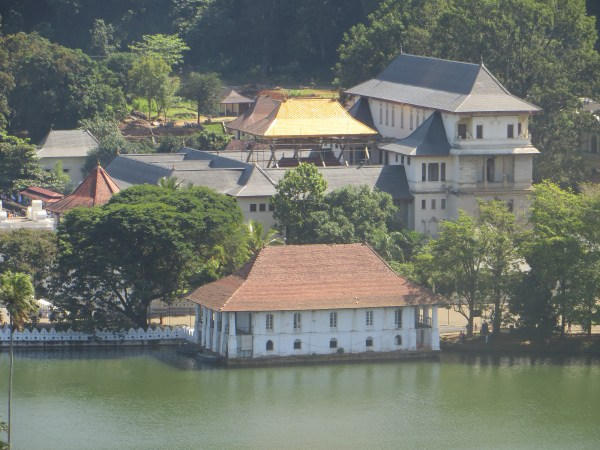 Temple of the Sacred Tooth Relic on Kandy Lake