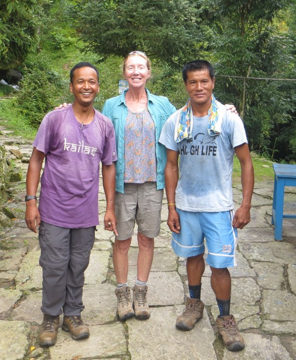 Our guide Kumar and porter Tek