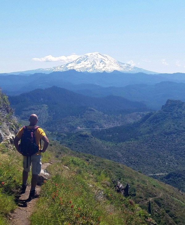 View of Mt. Adams from Boundary Trail #1 near Mount Margaret