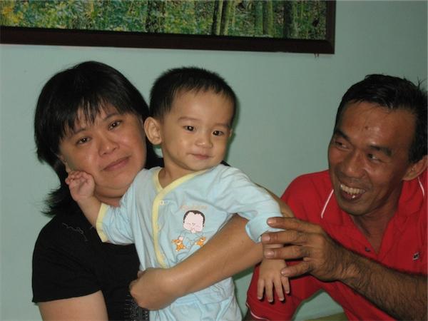 With papa & mama