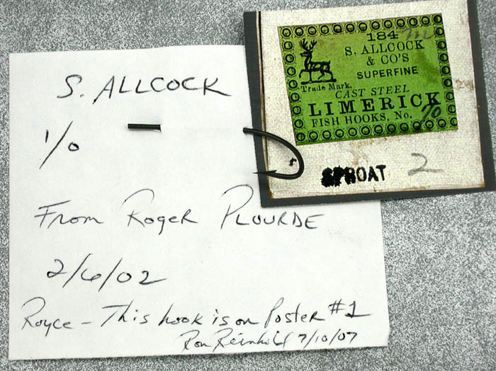 S Allcock, 1.0, hook & label detail, Reinhold collection, Royce Stearns