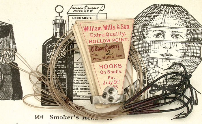 23a   William Mills & Son, O'Shaughnessy, #2, hollow point, japanned, double gut.