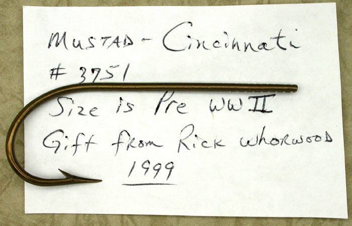 Mustad Cincinnati, #3751, pre WWII. From the Reinhold collection.