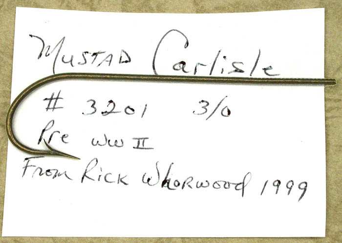 Mustad Carlisle, #3201, 3.0. From the Reinhold collection.