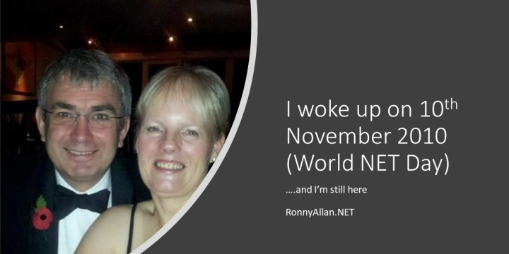 I woke up on NET Cancer day (…… now World NET Day)