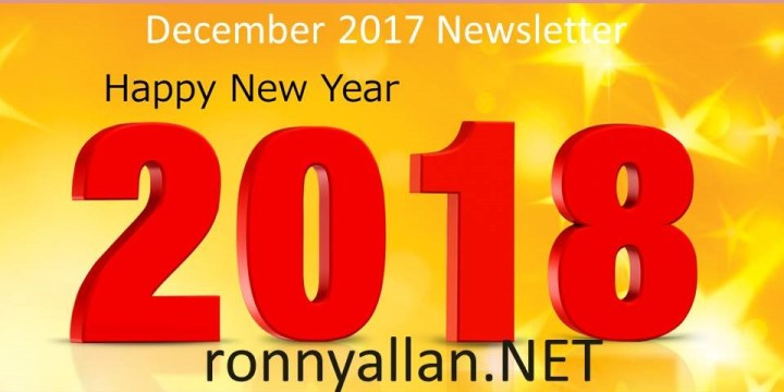 NETwork with Ronny © – Community Newsletter DECEMBER 2017