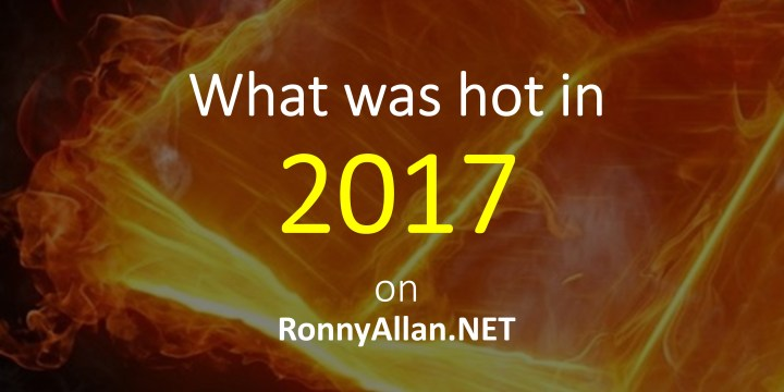 Ronny Allan – Top 6 posts of 2017
