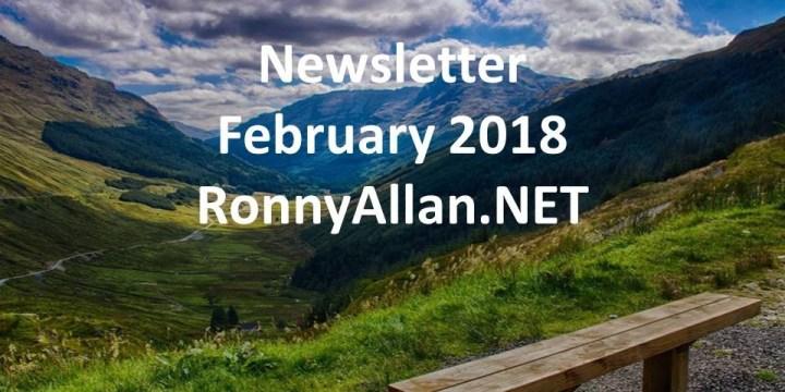 RonnyAllan.NET – Community Newsletter February 2018