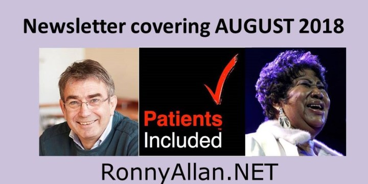 RonnyAllan.NET – Community Newsletter Covering August 2018