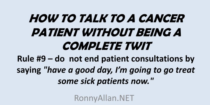 How to Talk to a Cancer Patient Without Being a Complete Twit
