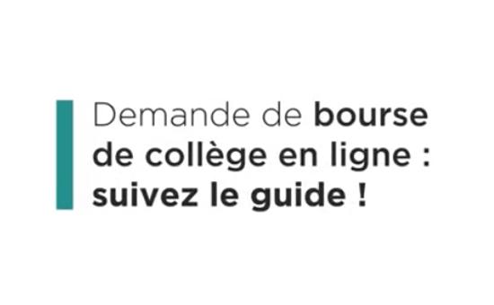 Faire Sa Demande De Bourse De College College Pierre De Ronsard