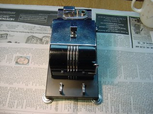 Finished up, Lighter repaired, cigarette dispenser reworked, base refinished