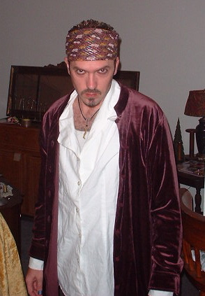 Halloween 2003. I must say, he made quite a handsome pirate.