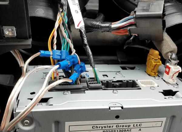 jeep jk audio control line converter install speaker wires