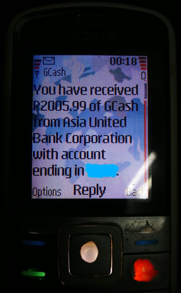 SMS confirmation