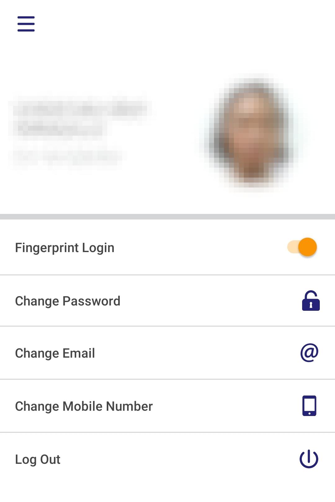 Application Settings screen