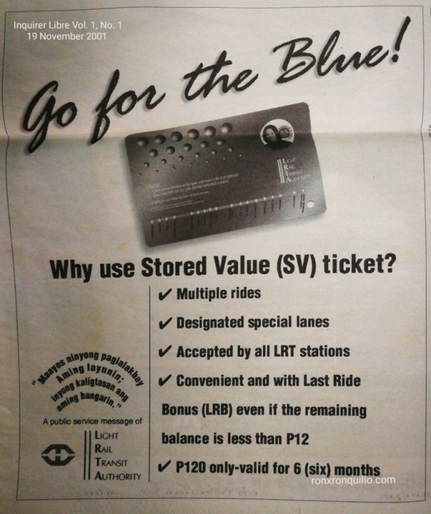 Go for the Blue Campaign by the Light Rail Transit Authority
