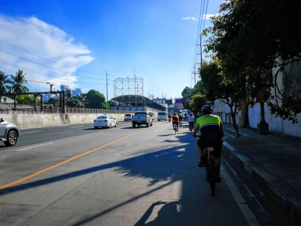 MMDA biker approaching EDSA-Buendia