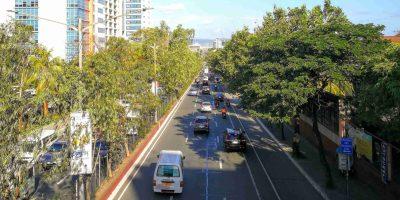 Ortigas Avenue eastbound overhead view