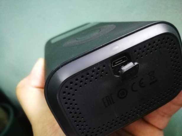 USB charging port of portable pump